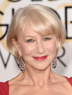 Helen Mirren B.o.B - Helen Mirren topped off her Golden Globes look with a simple bob.