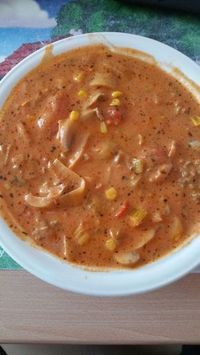 Sandra´s Hexensuppe Sandra's witch soup, a very nice recipe with picture from the category speci Vegetable Soup Healthy, Healthy Soup Recipes, Healthy Eating Tips, Vegetarian Recipes, Vegetable Drinks, Drink Recipes, Vegan Vegetarian, Pizza Soup, Roasted Tomato Soup