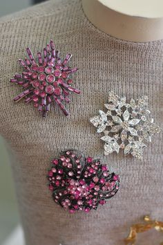 Vintage broaches found at Goodwill,  what a find for this person