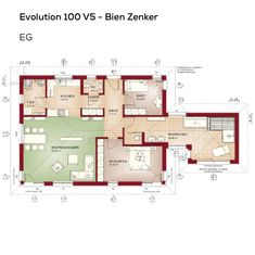 Bungalow Haus Grundriss Barrierefrei Mit Walmdach Architektur U0026 Luxus  Badezimmer   3 Zimmer, 118 Qm