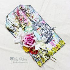 #mixedmedia #mixedmediatag #tag #iamrosesproject #iamrosesflowers #birdcage #colors #scrapbooktag #rose #lilies #bird #papercraft