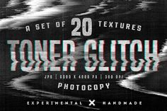 Toner Glitch photocopy textures by MiksKS on @creativemarket