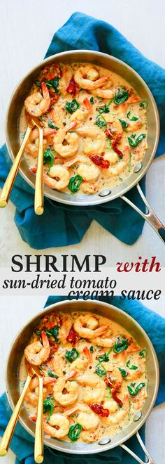 dinner recipes | shrimp recipe | easy dinner recipes | quick dinner recipes | sun dried tomato sauce | creamy sauce | parmesan cheese