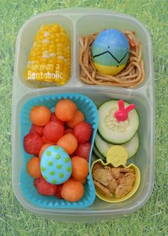 Easter Lunch Box Idea -| packed in @EasyLunchboxes containers