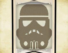 Book folding pattern Star Wars Logo for 242 by FoldingBookPatterns