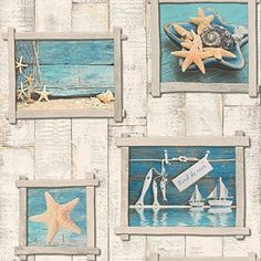 sea-life-vintage-starfish-boats-wooden-panel-vinyl-washable-aqua-wallpaper-by-rasch.jpg (1500×1506)
