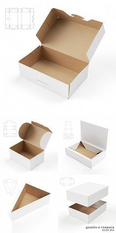 Векторный клипарт - Картонные коробки 2:
