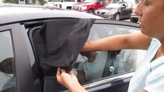 Slip-On Auto Window Shades Pieces) – Life Booster Shop Best Car Sun Shade, 2009 Honda Pilot, Window Sun Shades, Car Cooler, Car Paint Jobs, Car Gadgets, Car Storage, Open Window, Car Painting
