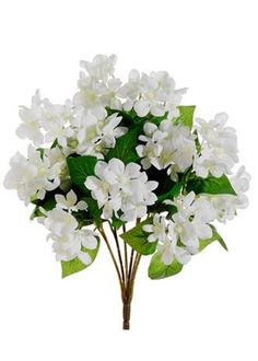 Silk floral bushes wedding flowers afloral dream wedding white stephanotis faux flower bush mightylinksfo Images