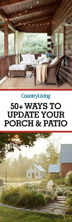 Grab a drink and a book and make your outdoor space your favorite escape with these porch ideas.