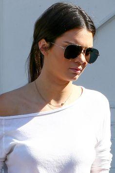 Kendall Jenner Wears a Denim Mini Skirt | Teen Vogue