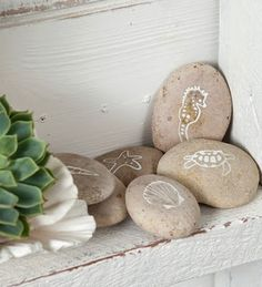 Decorate with Painted Beach Rocks - Completely Coastal   Beach + Nautical Decor, Art, Craft Ideas, Books, Homes + more