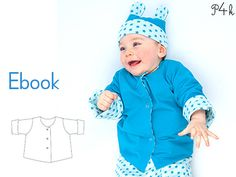 """Baby jacket sewing pattern, reversible, easy kids jacket, girls + boys, with cuffs, for beginners, instructions, """"Flavio"""" from Pattern4kids    Very nice lined reversible jacket for girls and boys with cuffs.  Suitable for beginners! With illustrated photo instructions!    The jacket fits nicely to baby overall Alberto and baby hat Orso!    Suggested fabrics: velour knits, jersey knits  Lining: jersey knits    Sizes  1M/3M  6M/9M  12M/18M  2Y/3Y    Sewing level: Beginner    Your sewing…"""