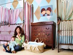 Dreamy Celebrity Nurseries Brooke Burke's Gender-Neutral Shared Nursery Hollywood mom of four Brooke Burke Charvet created a shared nursery for her two youngest — who are only 13 months apart. Backyard Canopy, Canopy Outdoor, Burke Nursery, Kids Canopy, Canopy Crib, Hotel Canopy, Window Canopy, Beach Canopy, Canopy Curtains
