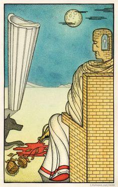...и Пилат на горном плато с не просыхающей кровавой лужей. Иллюстрации Юрия Смирнова