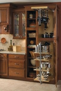 Baker's Cabinet - excellent use of space :: OrganizingMadeFun. - Baker's Cabinet - excellent use of space :: OrganizingMadeFun. Kitchen Cabinet Organization, Kitchen Cabinet Design, Kitchen Redo, Kitchen Cupboards, Kitchen Storage, Organization Ideas, Storage Ideas, Pan Storage, Kitchen Ideas