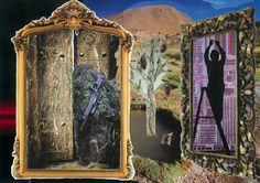 El árbol; las sombras, los espejos...  Collage A3.