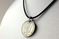 Panamanian Coin necklace Coin jewelry Vintage by CoinStories