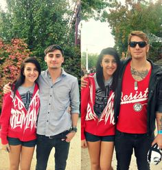 Me and the beautiful Kyle Pavone & Andy Glass of We Came As Romans.