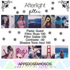 """3,348 Likes, 147 Comments - @appsdosfamosos on Instagram: """"#adffiltros #adfafterlight Hello gente, esse filtro no Afterlight serve mais para fotos com uma…"""""""