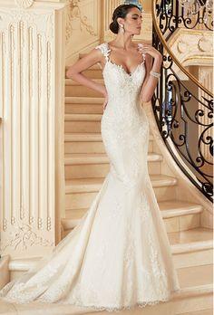 Kitty Chen fleur lace trumpet wedding dress