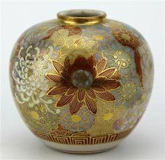 Satsuma Chrysanthemum Vase - View 2