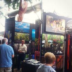 Gorgeous from at Chicago Botanic Garden, Booth Ideas, Art Festival, Garden Art, Dark Grey, Festivals, Photographs, Display, Business