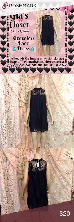 Mini lace party dress 👗 Navy blue, two layers one is solid blue other is lace. Stylish and sophisticated. All eyes 👀 will be on you Dresses Mini