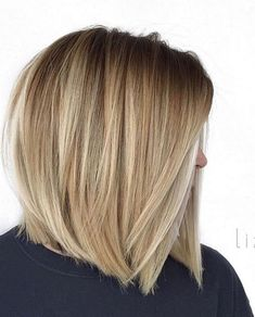 You may find here more obsessing shades of blonde balayage hair colors for best ever hair looks right now. Here we have collected amazing trends of balayage highlights. No matter which hair length you have, it is one of the most suitable hair colors. Medium Hair Styles, Short Hair Styles, Balayage Hair Blonde, Balayage Highlights, Color Highlights, Haircut For Thick Hair, Straight Bob Haircut, Thin Hair, Short Bob Hairstyles