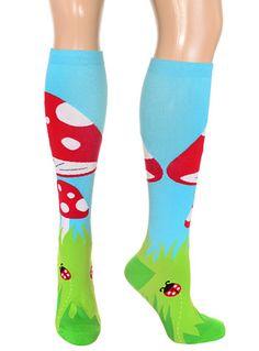 Marvelous Mushrooms Knee Socks by Sock it to Me, Socks, Multi