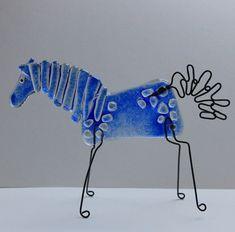 Sky Blue HORSE Mustang STALLION Unicorn PEGASUS