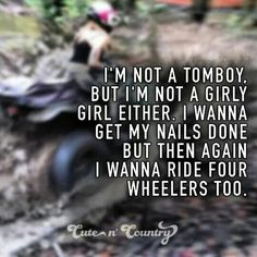Me except i dont like my nails done i like my hair done and i prefer trucks :)