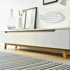 More than 15 modern and elegant ideas of TV stands for small spaces - Scandinavian Design Trends - Have Best Home Decor ! Rustic Bedroom Furniture, Scandinavian Furniture, Furniture Legs, Refurbished Furniture, Design Furniture, White Furniture, Scandinavian Design, Living Room Furniture, Modern Furniture