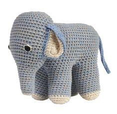 Anne-Claire Petit hæklet elefant, lyseblå