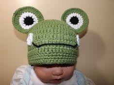 Crochet Froggy Hat.