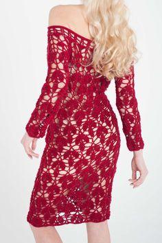 Camilla CROCHET DRESS Crochet dress woman Summer от Kandiana