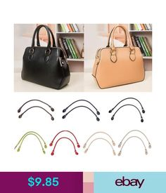 eebf4e26ae Handbag Accessories Pair Leather Bag Handle Purse Strap Handbag Accessories  Diy Repair Replacements  ebay