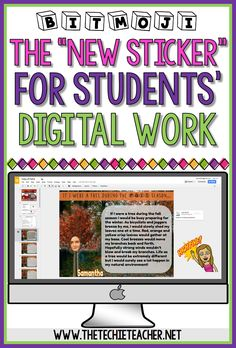 "Bitmojis: The ""new"" Sticker for Students' Digital Work - The Techie Teacher® Technology Integration, Teaching Technology, Educational Technology, Technology Tools, Google Docs, Google Drive, Feedback For Students, Google Classroom, Classroom Ideas"