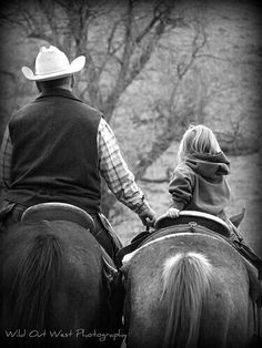 Cowboy and his lil cowgirl