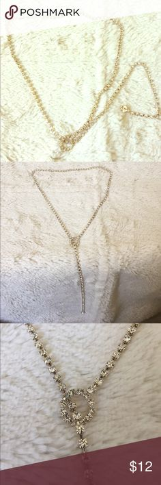 Drop necklace. Crystal Beautiful crystal necklace with a circular drop through. Perfect for a plunge neckline dress or Blouse! Jewelry Necklaces