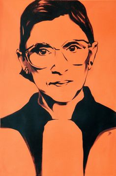 Ruth Bader Ginsburg by RachelDolezalArt on Etsy