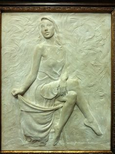Sutton Betti Sculpture and Drawings: #70 Waiting, relief