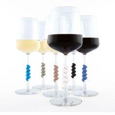wijnglas ID Wine Glass Twister klassieke kleuren - Handig Cadeau