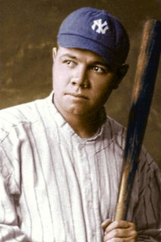 Babe Ruth Famous Baseball Players, Best Baseball Player, Major League Baseball Teams, Royals Baseball, New York Yankees Baseball, Baseball Art, Mlb Players, Mlb Teams, Go Yankees
