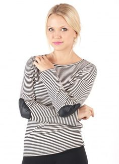 Elbow Patch Layering Tee $22.00 + FREE SHIPPING