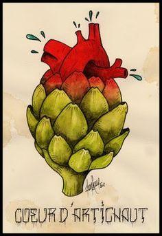 """Képtalálat a következőre: """"artichoke heart art"""""""