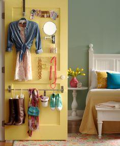 5 Bedroom Storage Hacks That Will Enhance Your Sleep Space # Decoration Closet Door Storage, Bedroom Closet Doors, Wardrobe Storage, Bedroom Storage, Bedroom Organization, Organization Ideas, Clothing Storage, Bedroom Wardrobe, Jewelry Storage