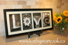 Individual Alphabet Art Letters framed together in an 8x20 inch frame.  Many other letters to choose from at www.kathystanczak.ca