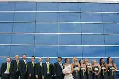 Toronto Wedding. Loving the glass windows as a backdrop