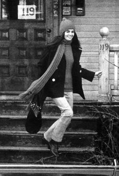 Ali MacGraw in Love Story; the clothing, and how she rocked it, made her an Icon for the 70's.